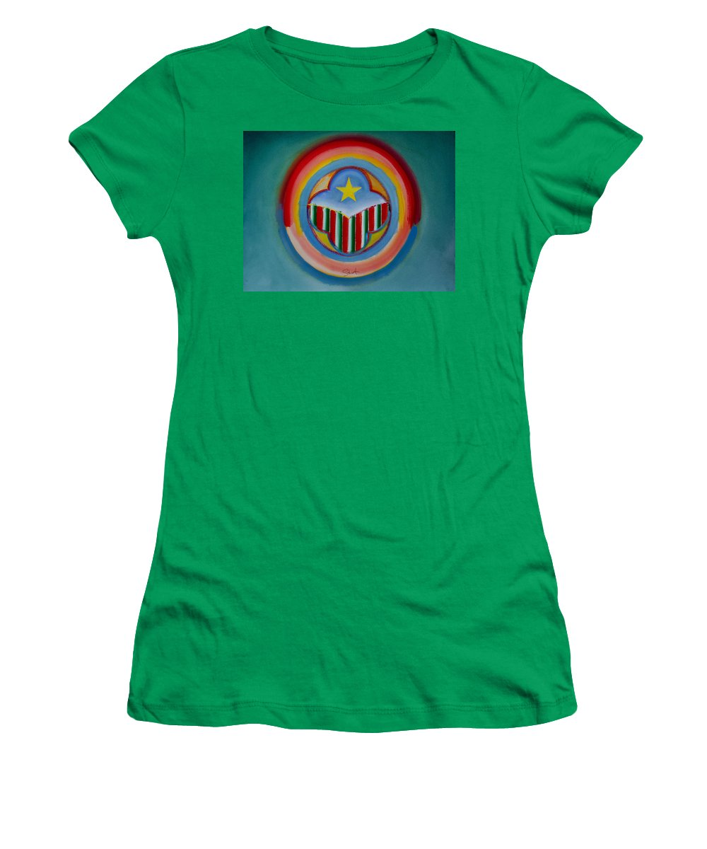 Button Women's T-Shirt (Athletic Fit) featuring the painting Italian American by Charles Stuart