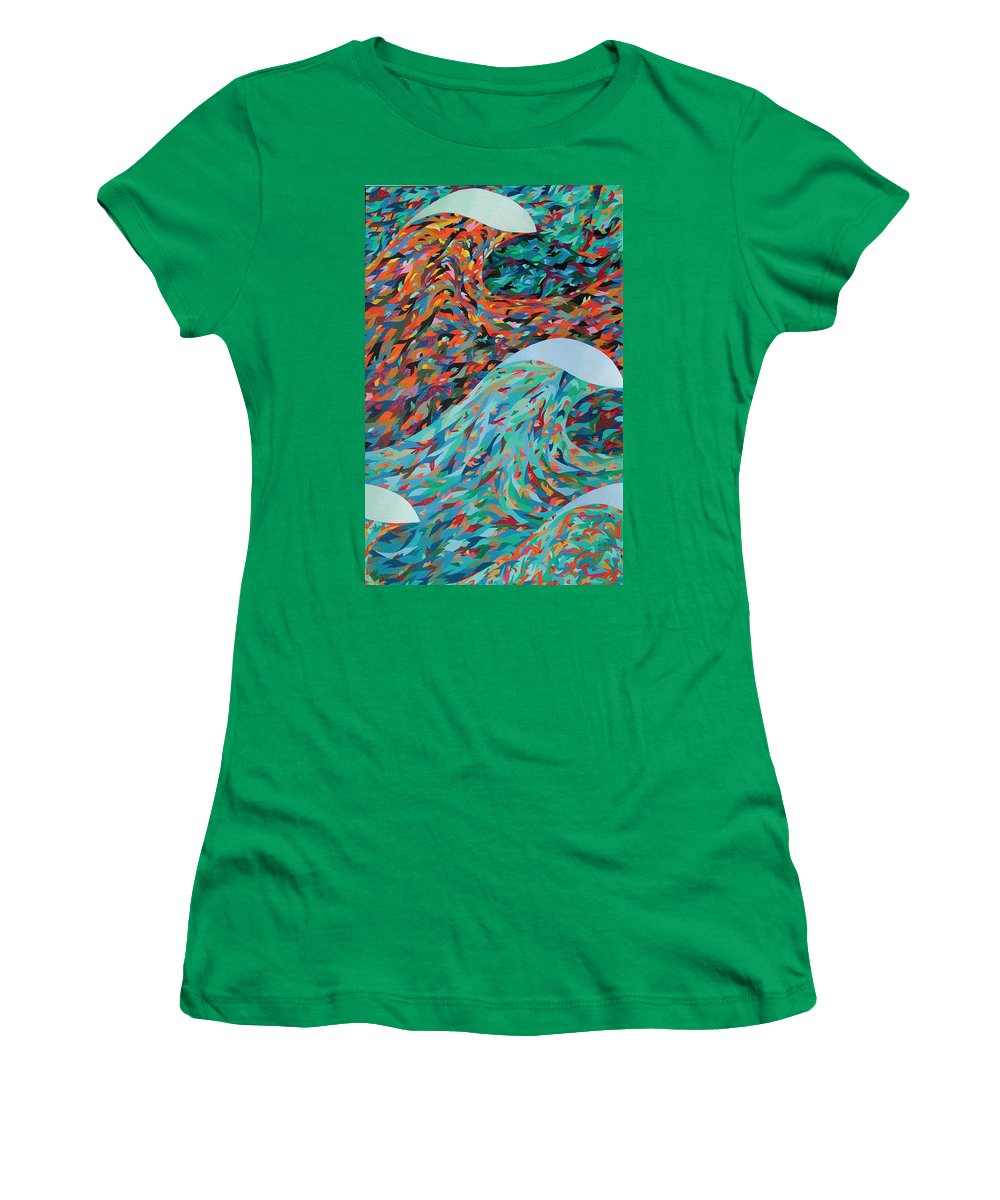 Oil Women's T-Shirt featuring the painting La Mer by Peter Antos