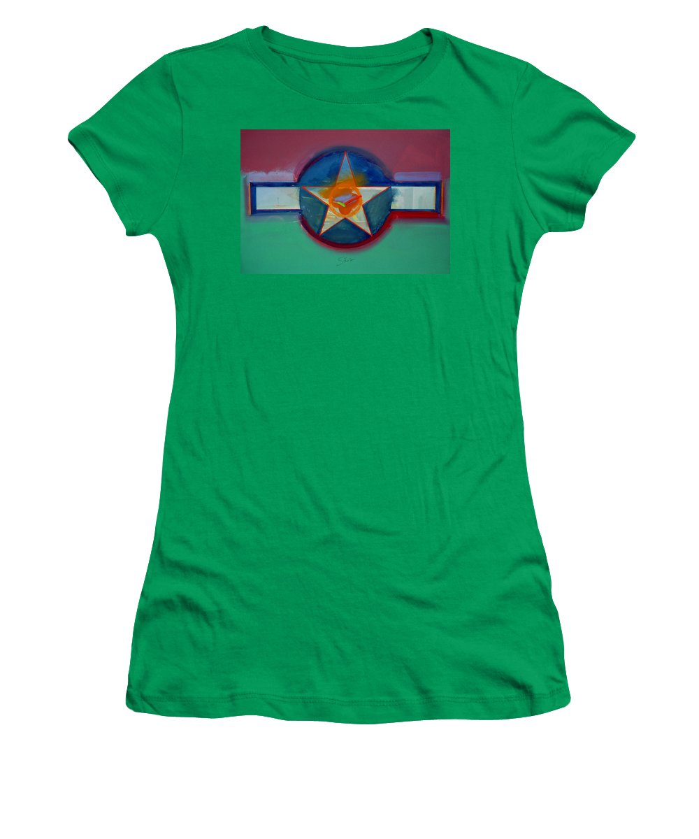 Star Women's T-Shirt (Athletic Fit) featuring the painting Landscape In The Balance by Charles Stuart
