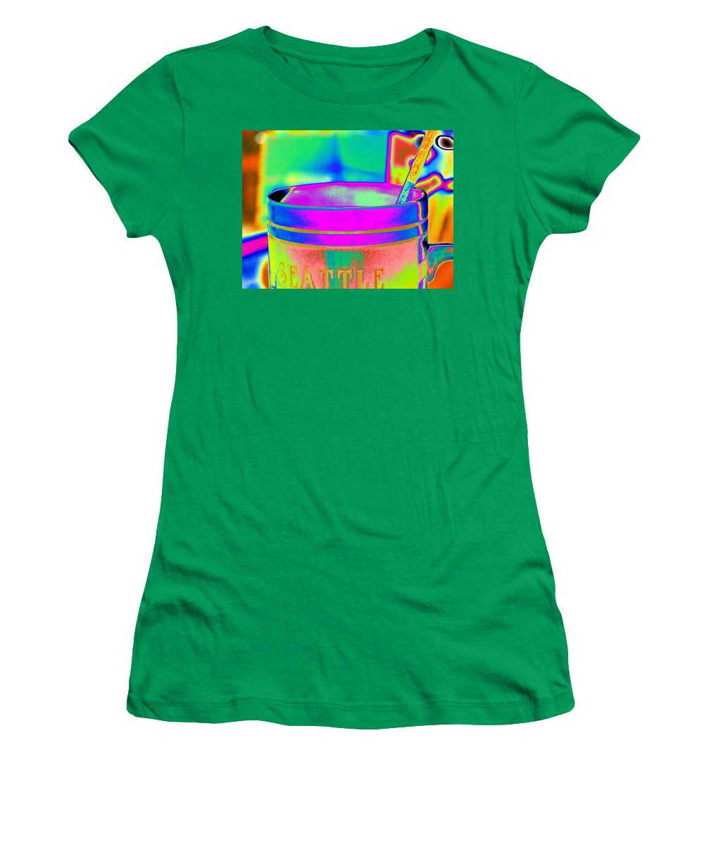 Morning Women's T-Shirt (Athletic Fit) featuring the photograph Morning Break by Tim Allen