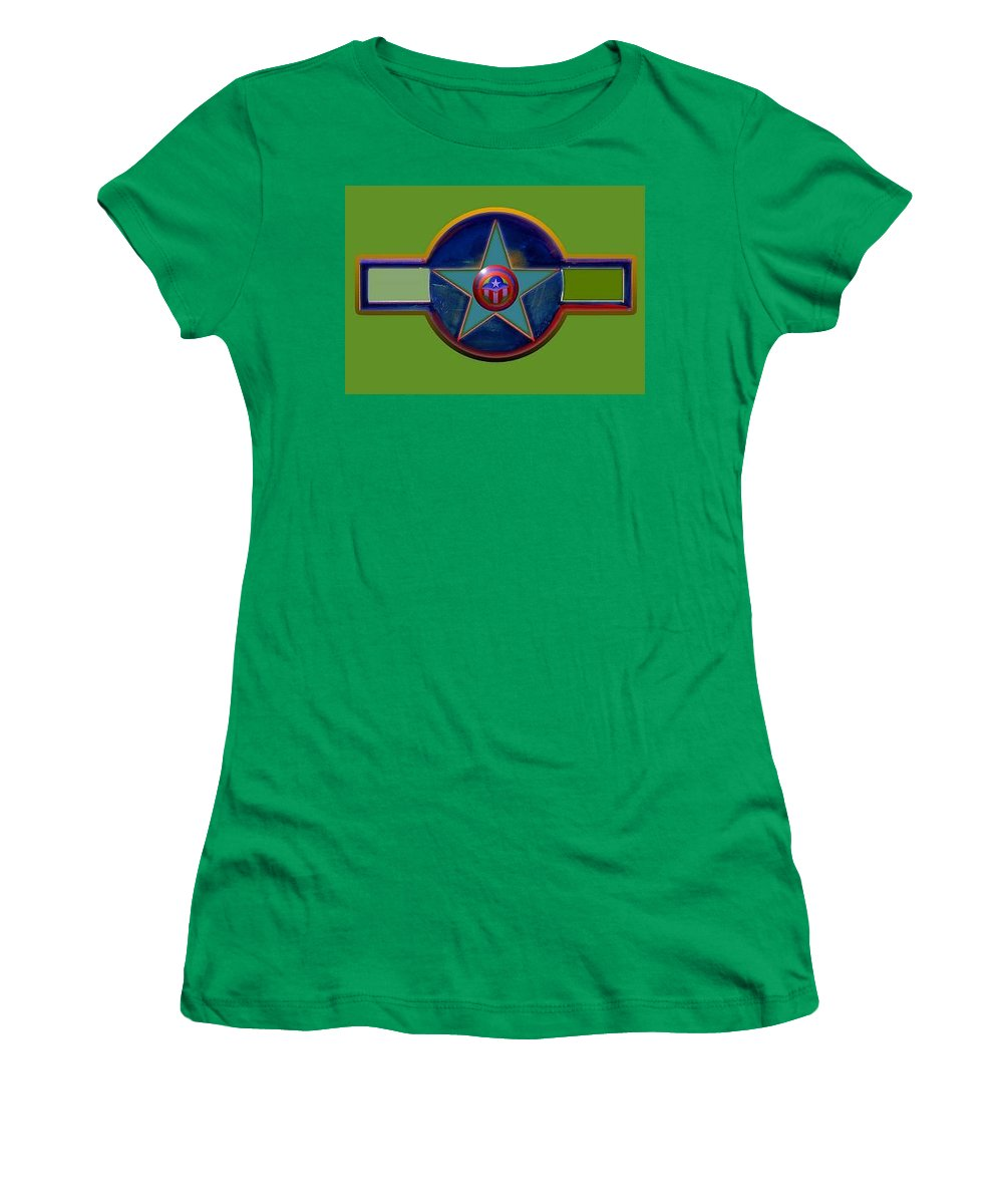 Usaaf Insignia Women's T-Shirt featuring the digital art Pax Americana Decal by Charles Stuart