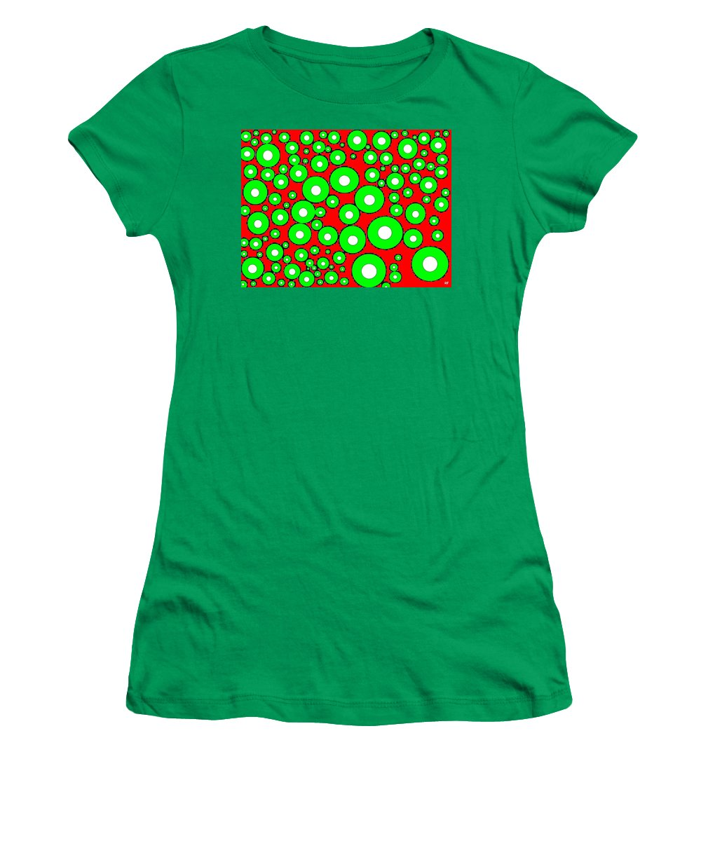 Abstract Women's T-Shirt featuring the digital art Pizzazz 5 by Will Borden