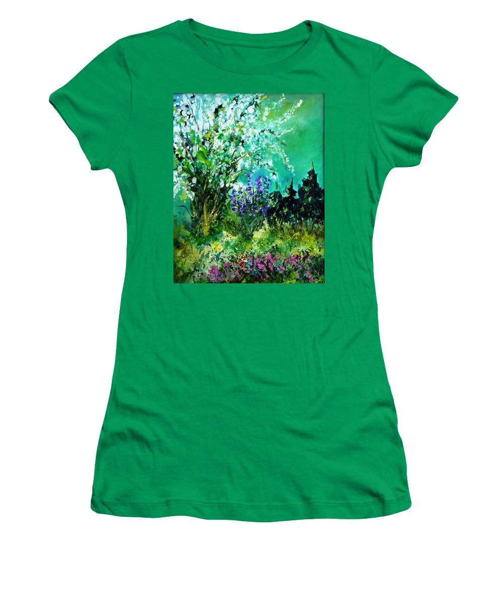Tree Women's T-Shirt (Athletic Fit) featuring the painting Seringa by Pol Ledent