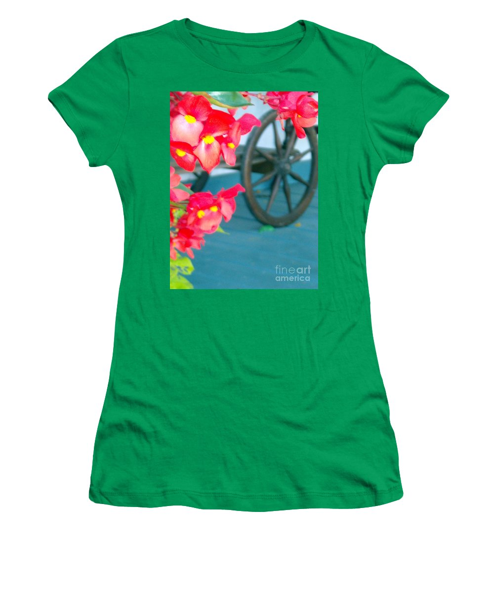 Flowers Women's T-Shirt featuring the photograph Summer Flowers by Line Gagne