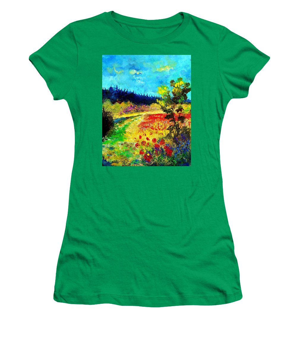 Flowers Women's T-Shirt featuring the painting Summer by Pol Ledent