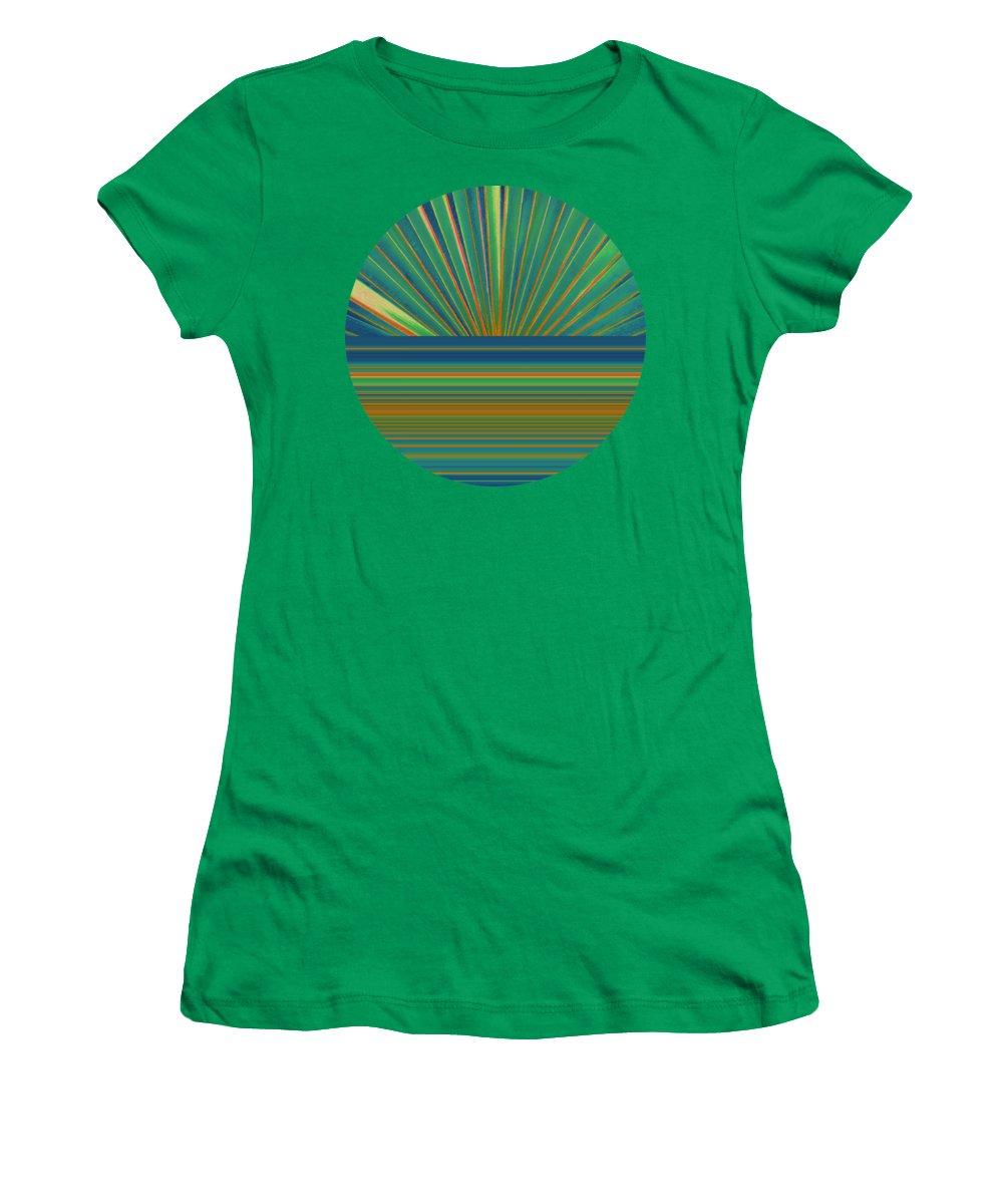 Sunburst Women's T-Shirt (Athletic Fit) featuring the photograph Sunburst by Michelle Calkins