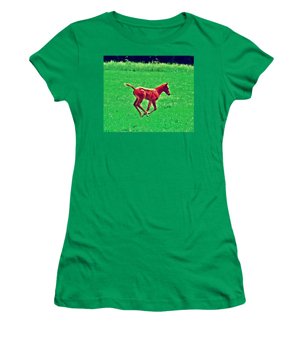 Philadelphia Women's T-Shirt (Athletic Fit) featuring the photograph Thorobred by Bill Cannon