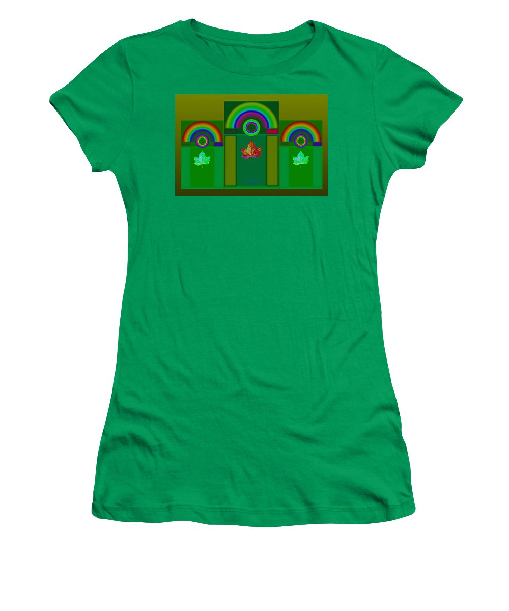 Classical Women's T-Shirt featuring the digital art Tuscan Green by Charles Stuart