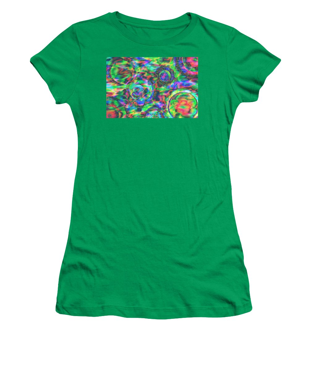 Colors Women's T-Shirt featuring the digital art Vision 28 by Jacques Raffin
