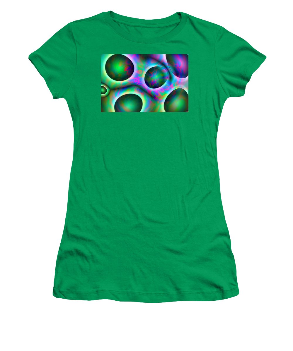 Colors Women's T-Shirt featuring the digital art Vision 30 by Jacques Raffin