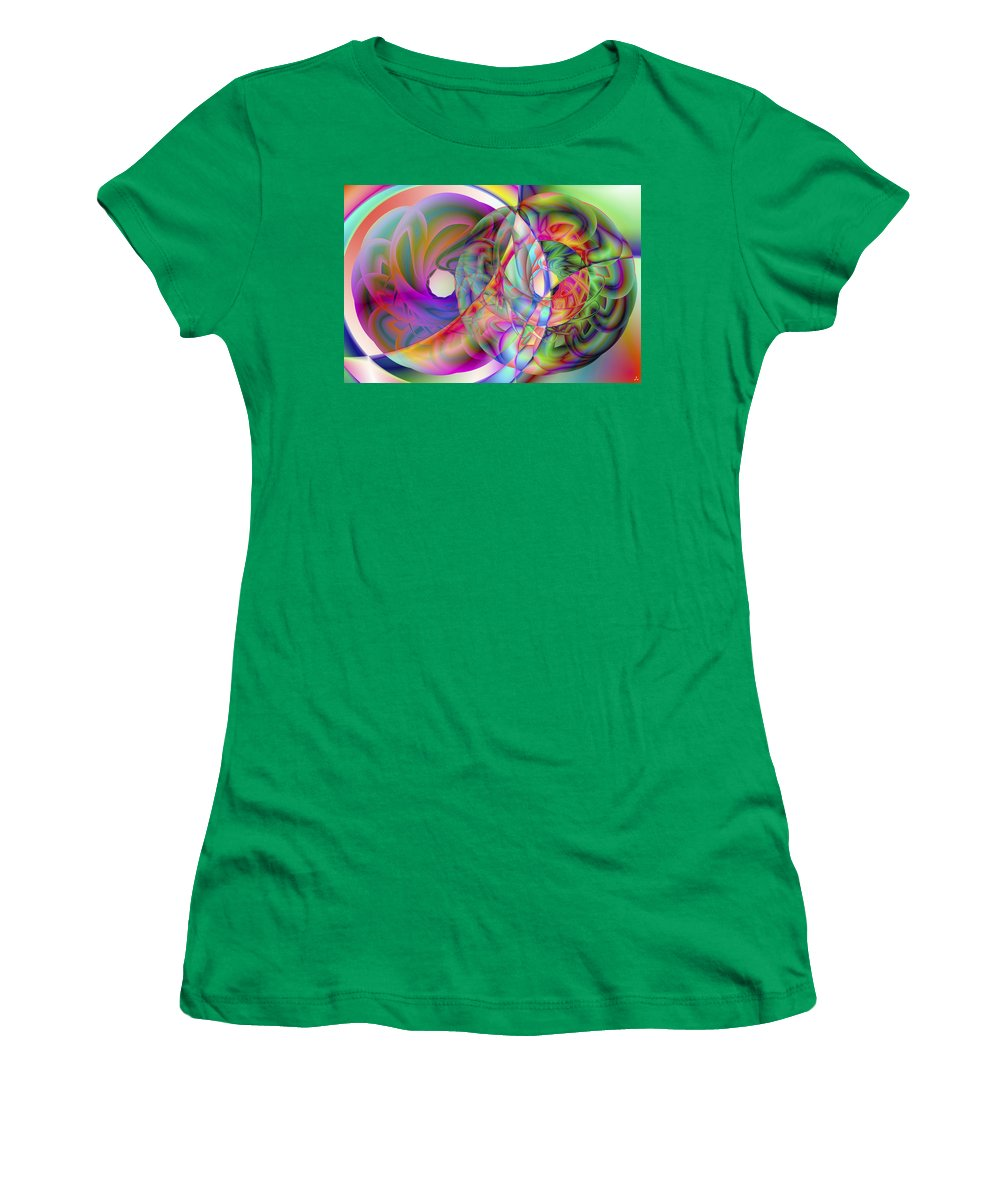 Crazy Women's T-Shirt featuring the digital art Vision 41 by Jacques Raffin