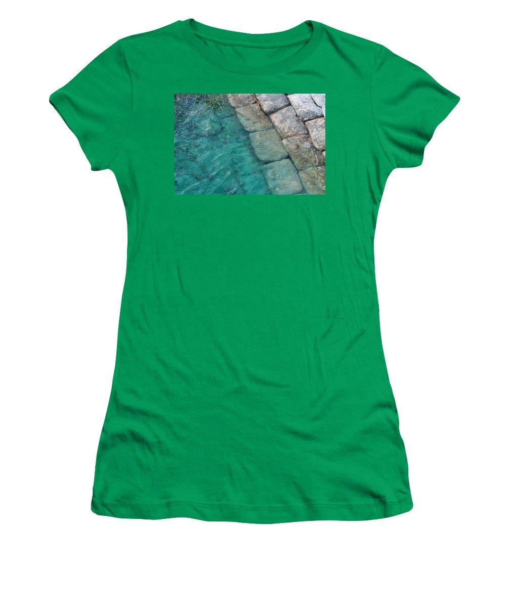 Water Blocks Bricks Women's T-Shirt featuring the photograph Water Blocks by Rob Hans