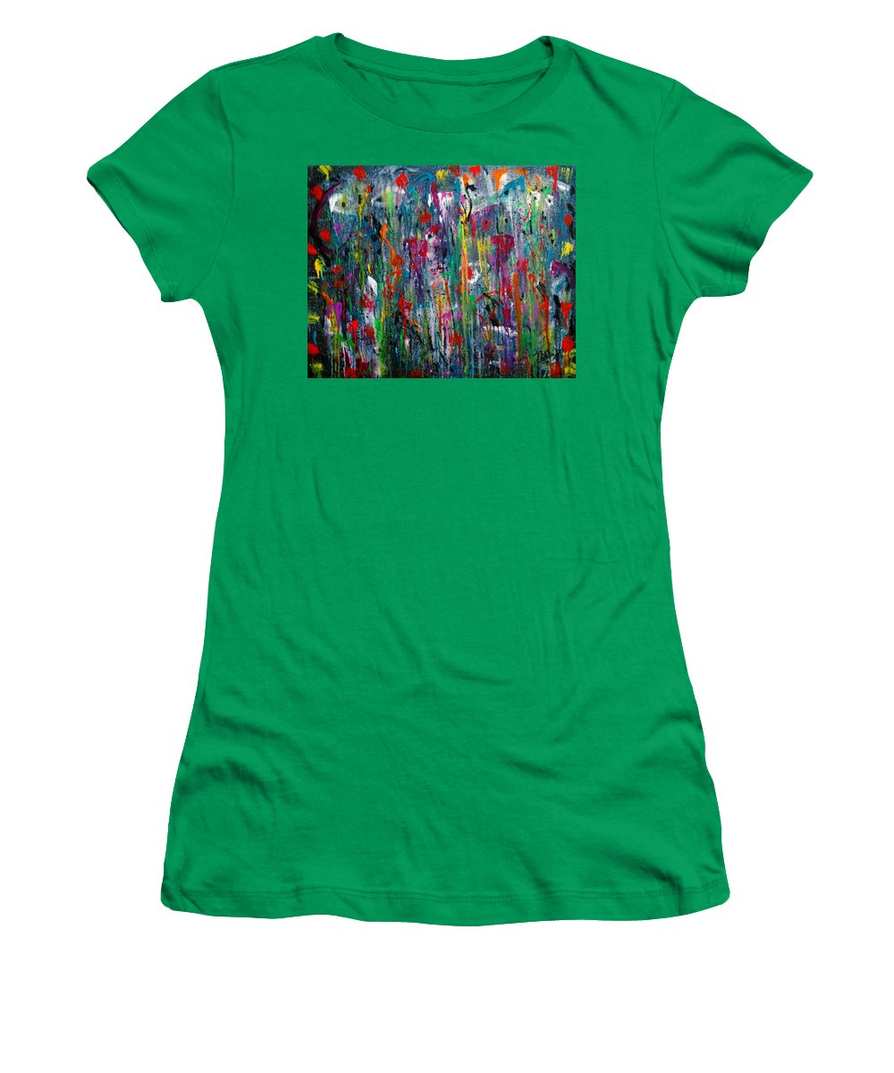 Dreams Women's T-Shirt featuring the painting What Dreams Are Made Of by Natalie Holland