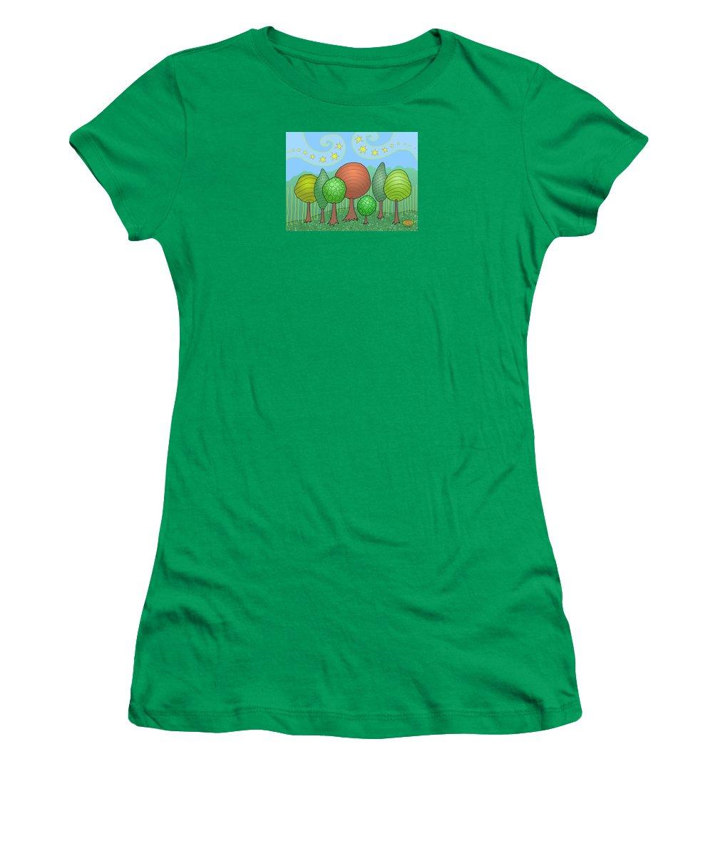 Family Women's T-Shirt featuring the digital art My Family by Susan Bird Artwork