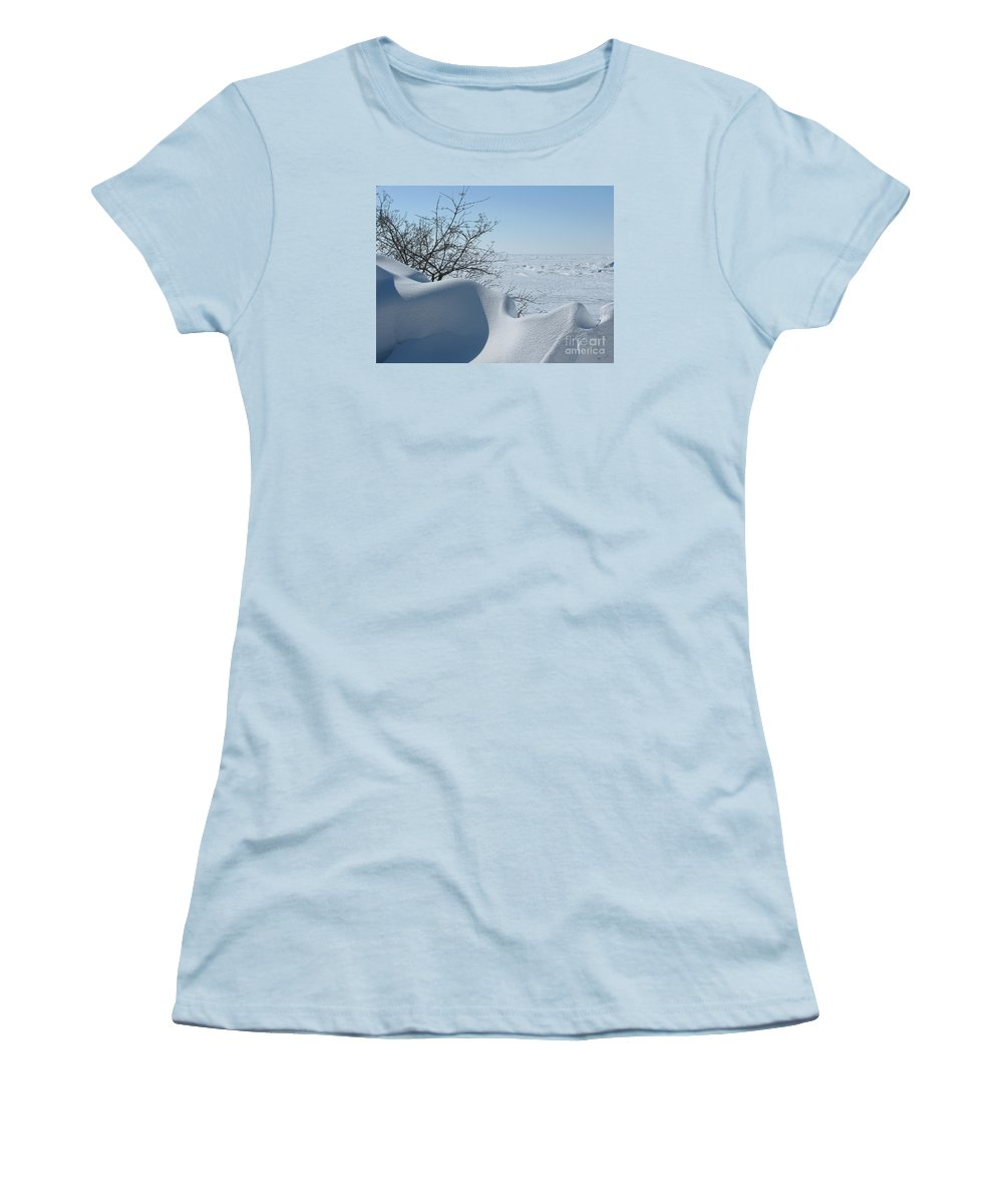 Winter Women's T-Shirt (Athletic Fit) featuring the photograph A Gentle Beauty by Ann Horn