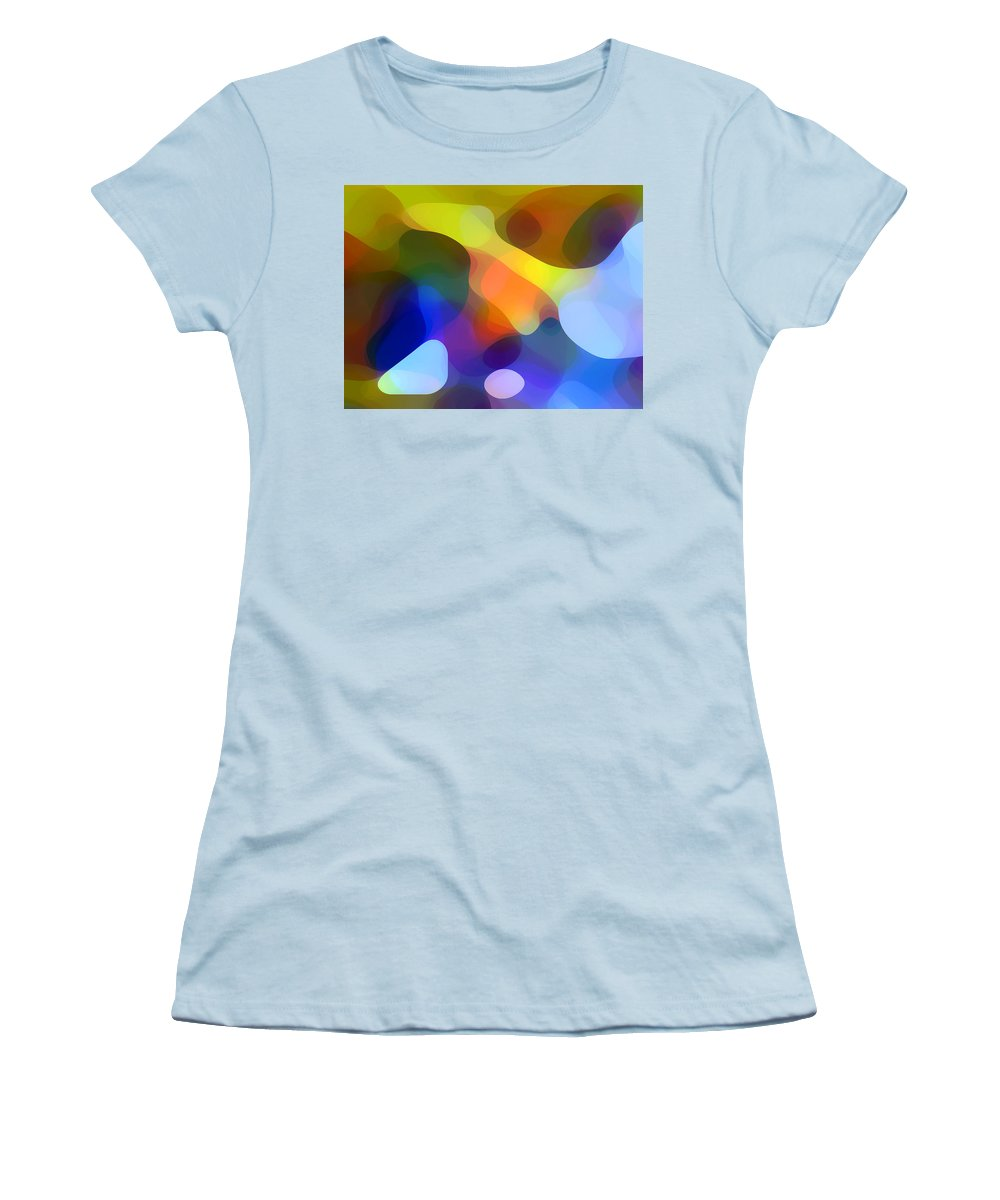 Bold Women's T-Shirt (Athletic Fit) featuring the painting Cool Dappled Light by Amy Vangsgard