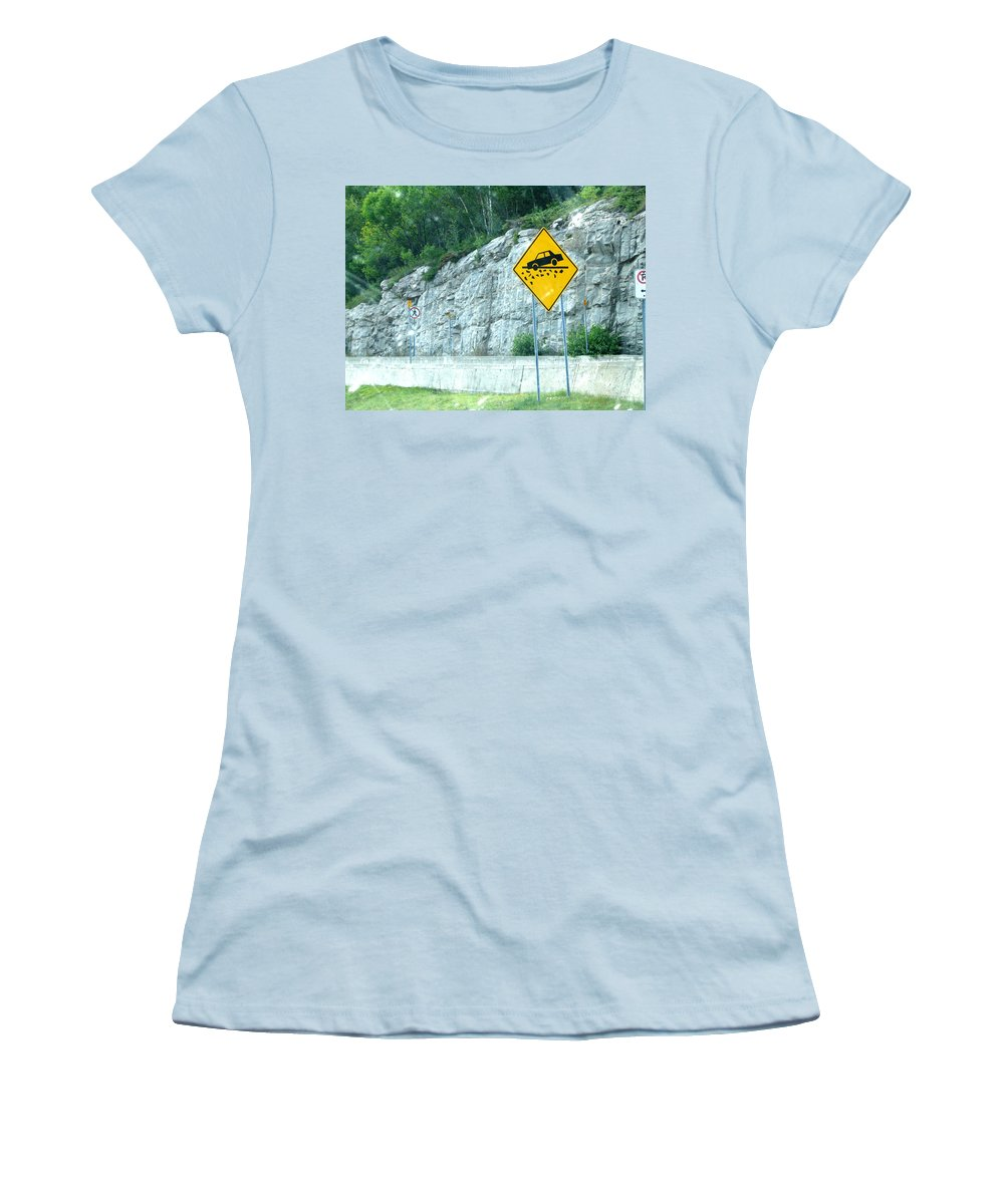Women's T-Shirt (Athletic Fit) featuring the photograph Hummm Attention To ...lolllllllllllll by Line Gagne