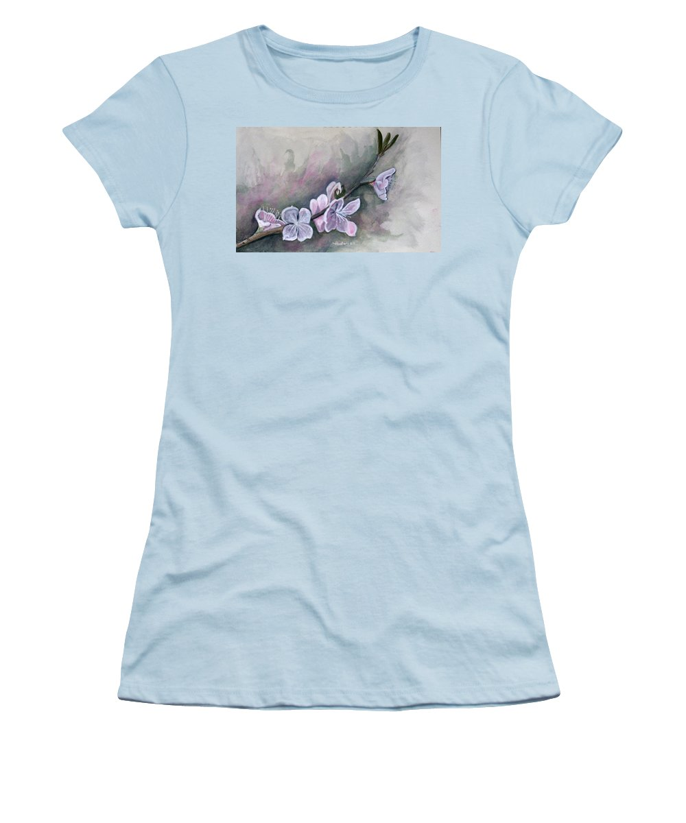 Rick Huotari Women's T-Shirt (Athletic Fit) featuring the painting Spring Splendor by Rick Huotari