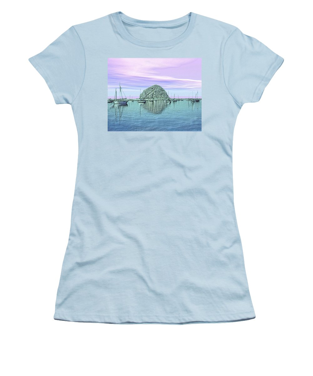 Seascape Women's T-Shirt (Athletic Fit) featuring the photograph The Rock by Kurt Van Wagner
