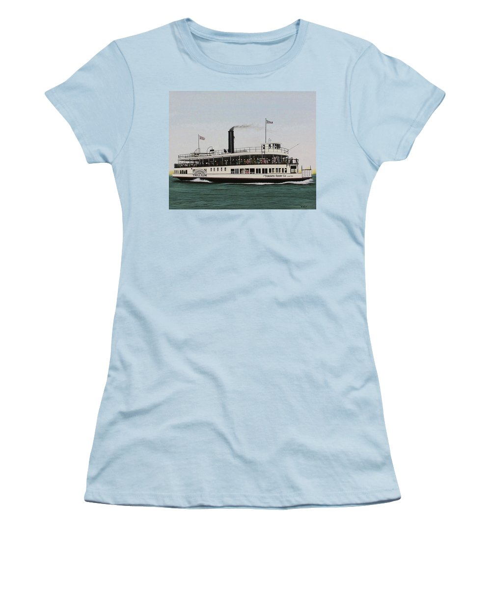 Landscapes Women's T-Shirt (Athletic Fit) featuring the painting The Toronto Trillium by Kenneth M Kirsch