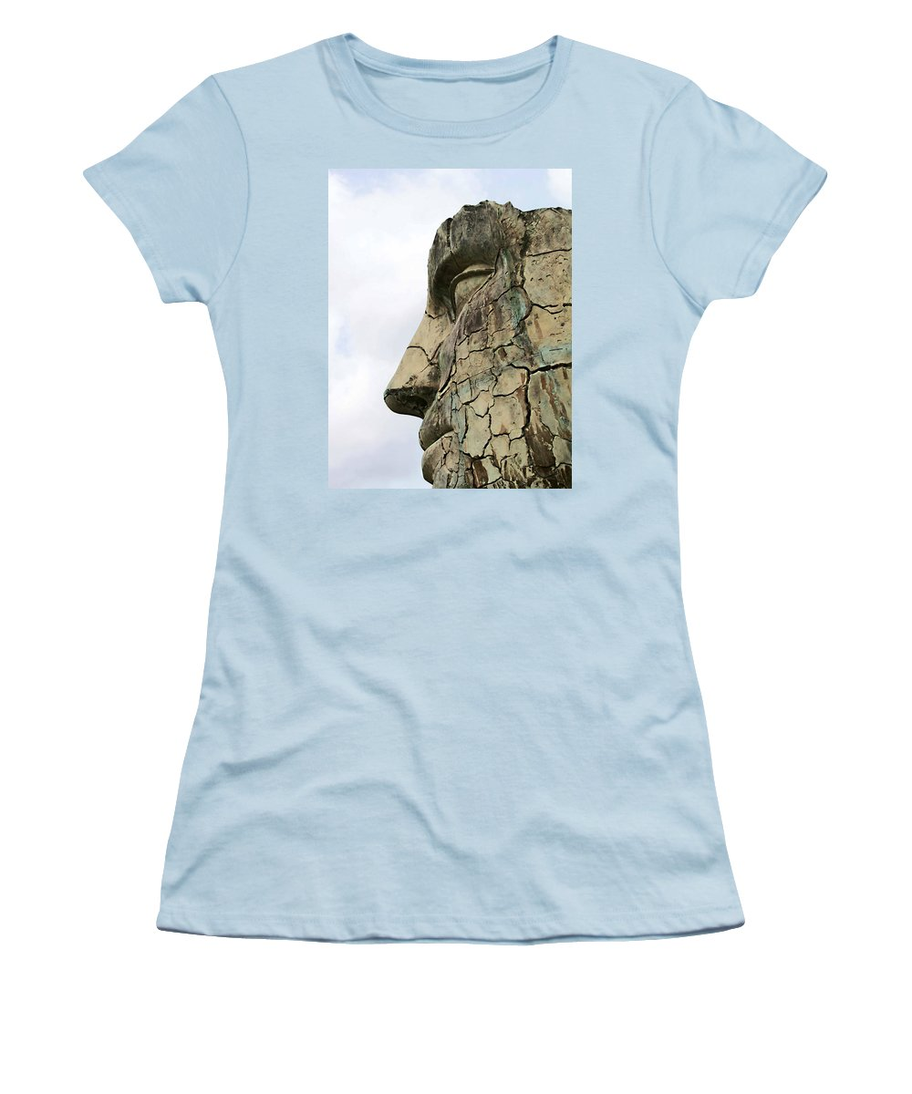 Tyndareus Cracked Women's T-Shirt (Athletic Fit) featuring the photograph Tyndareus Cracked 1 by Ellen Henneke