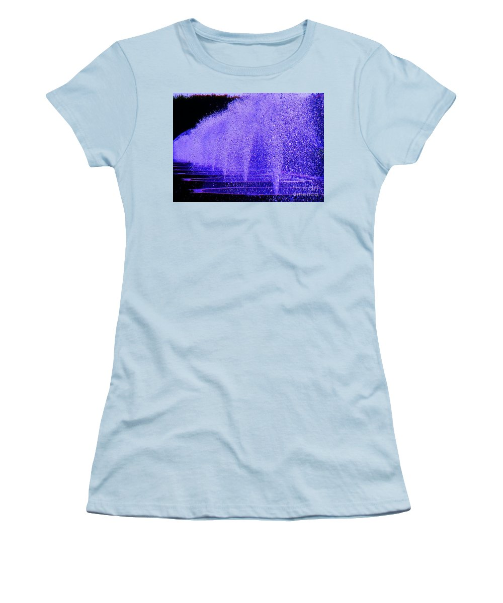 Fountain Women's T-Shirt (Athletic Fit) featuring the photograph Water Fountain by Eric Schiabor
