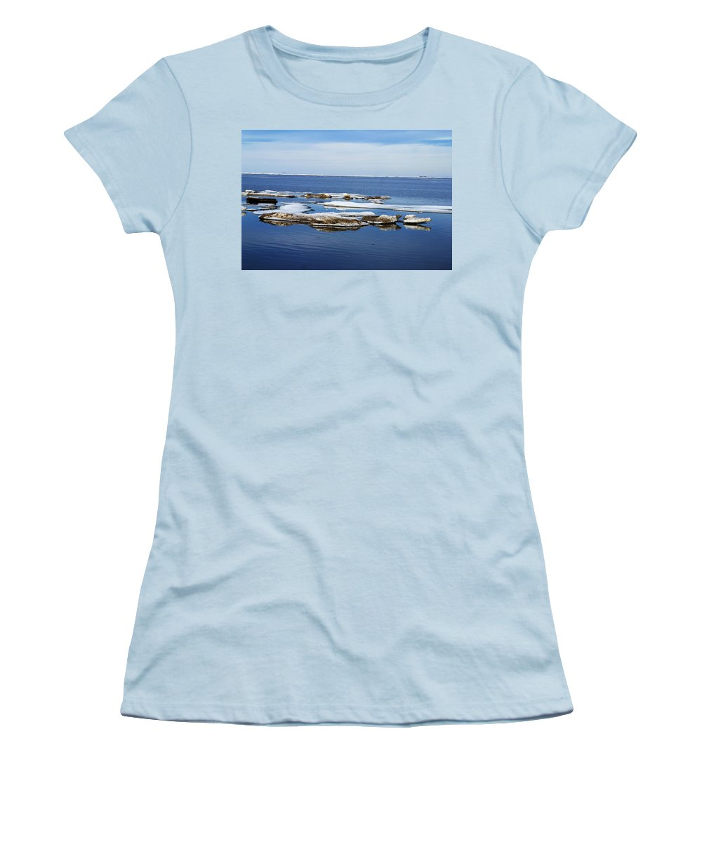 Ice Women's T-Shirt (Athletic Fit) featuring the photograph Arctic Ice by Anthony Jones