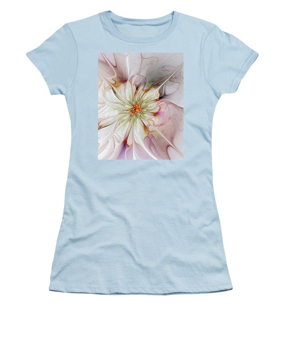 Digital Art Women's T-Shirt (Athletic Fit) featuring the digital art In Full Bloom by Amanda Moore