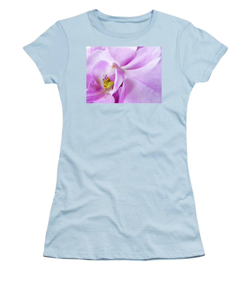 Orchid Women's T-Shirt (Athletic Fit) featuring the photograph Orchid by Daniel Csoka