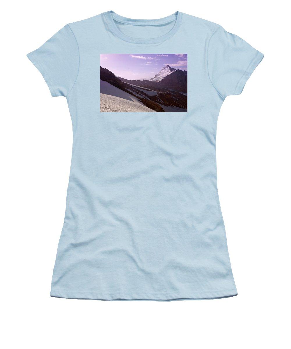 Beautiful Women's T-Shirt (Athletic Fit) featuring the photograph Pamir by Konstantin Dikovsky