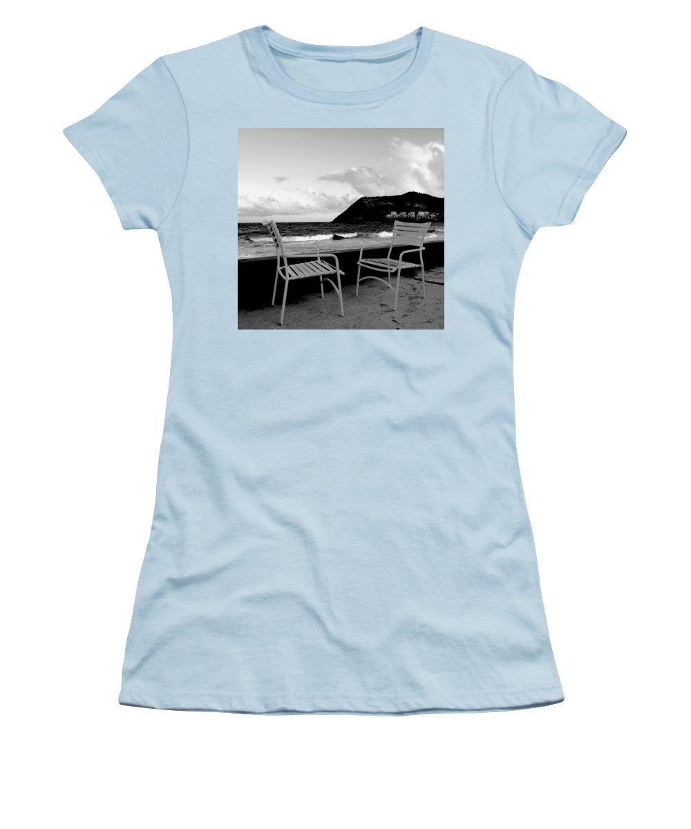 Ocean Women's T-Shirt (Athletic Fit) featuring the photograph Waiting by Ian MacDonald