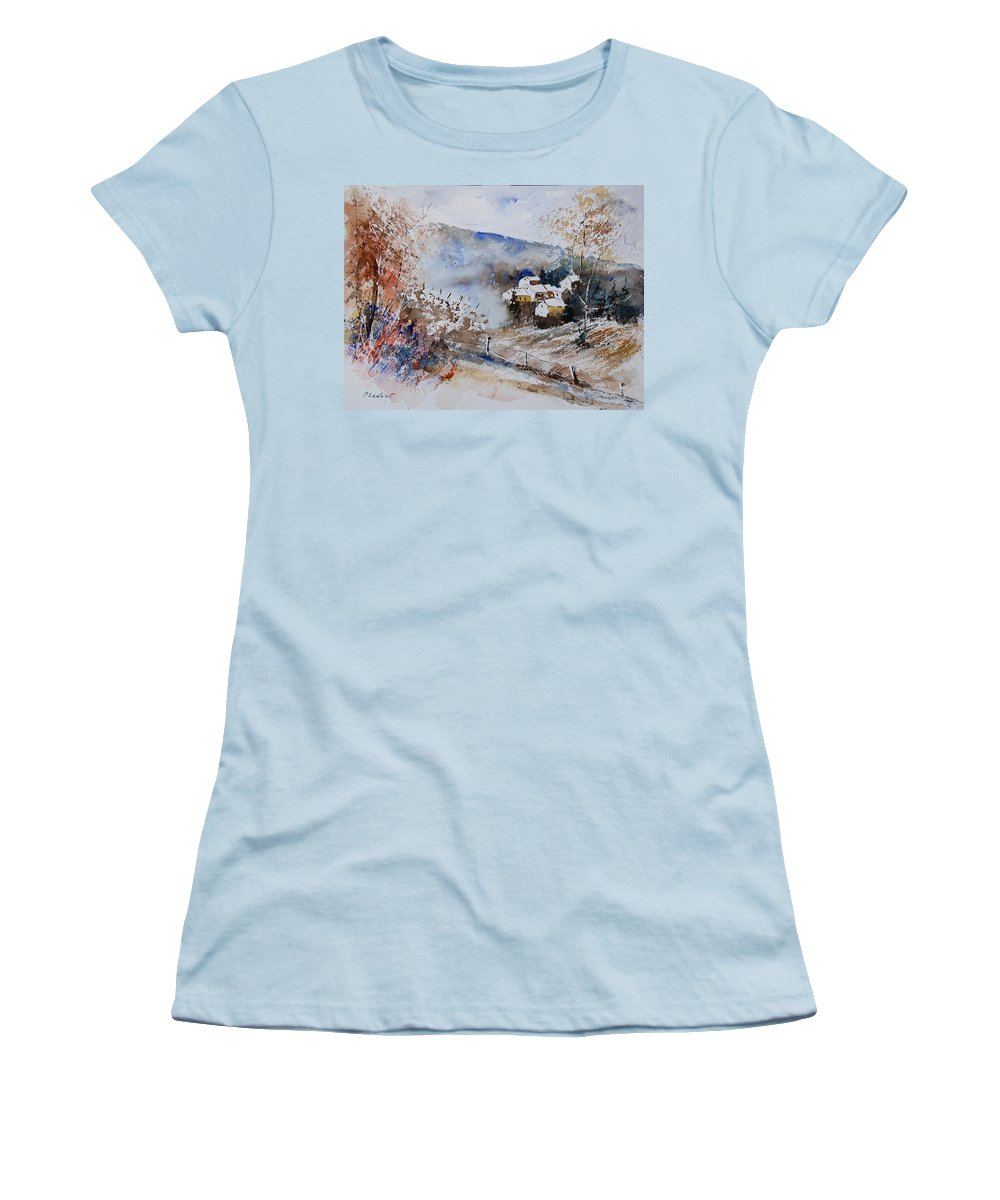 Winter Women's T-Shirt (Athletic Fit) featuring the painting Watercolor 902091 by Pol Ledent