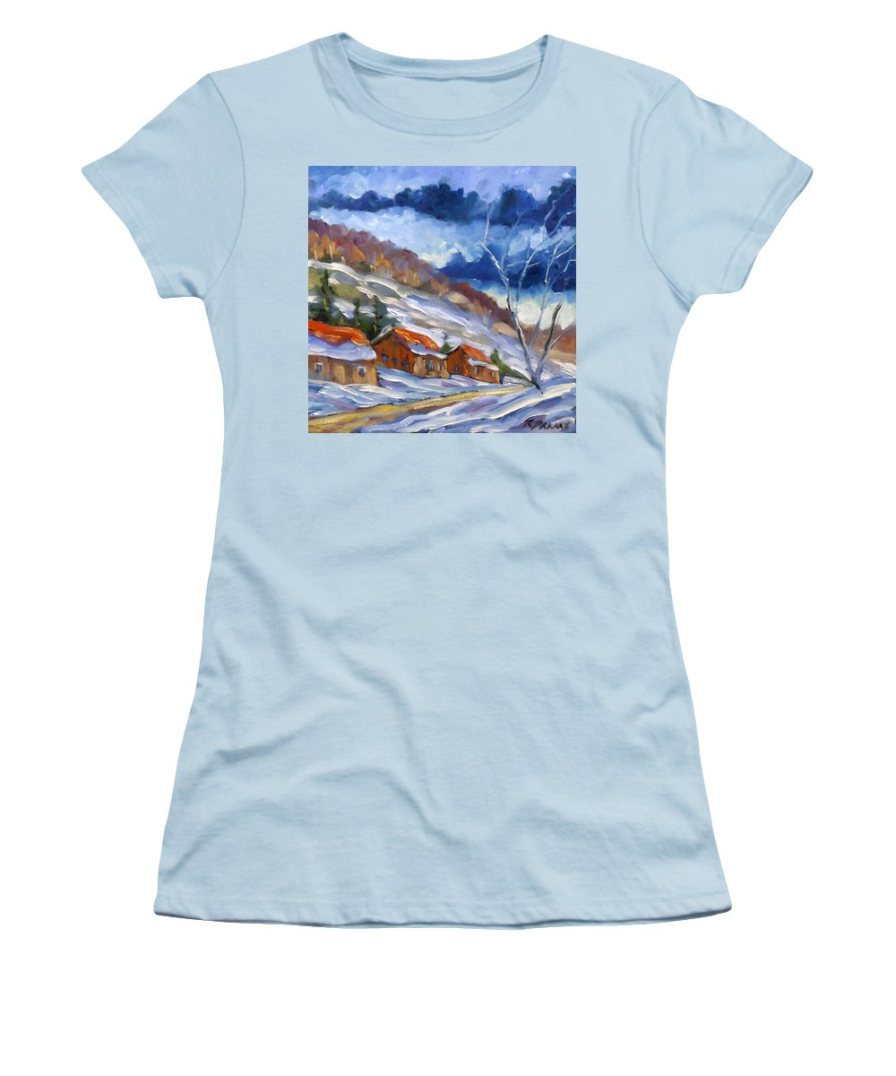 Art Women's T-Shirt (Athletic Fit) featuring the painting After The Storm by Richard T Pranke