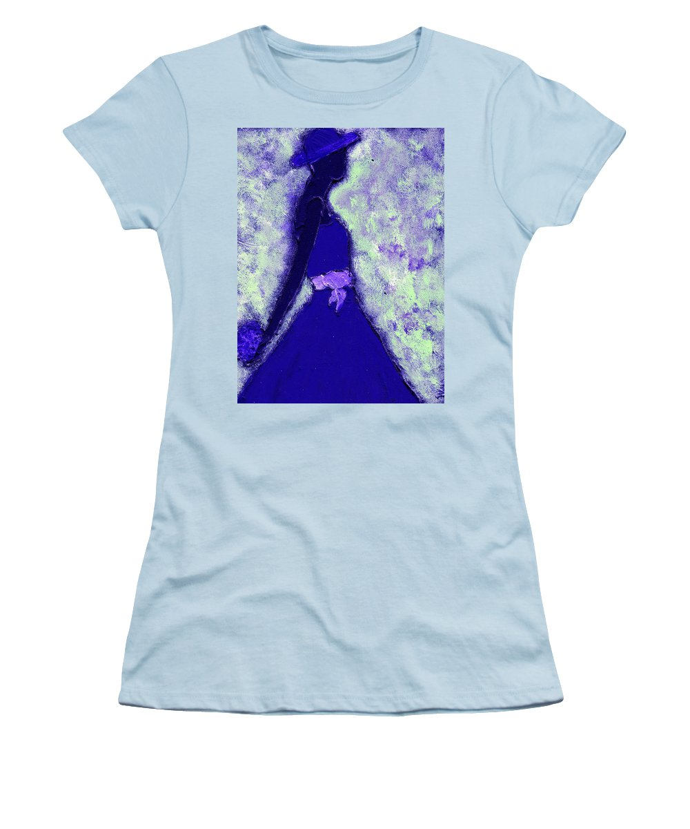 Woman Women's T-Shirt (Athletic Fit) featuring the painting Always A Bridesmaid by Wayne Potrafka