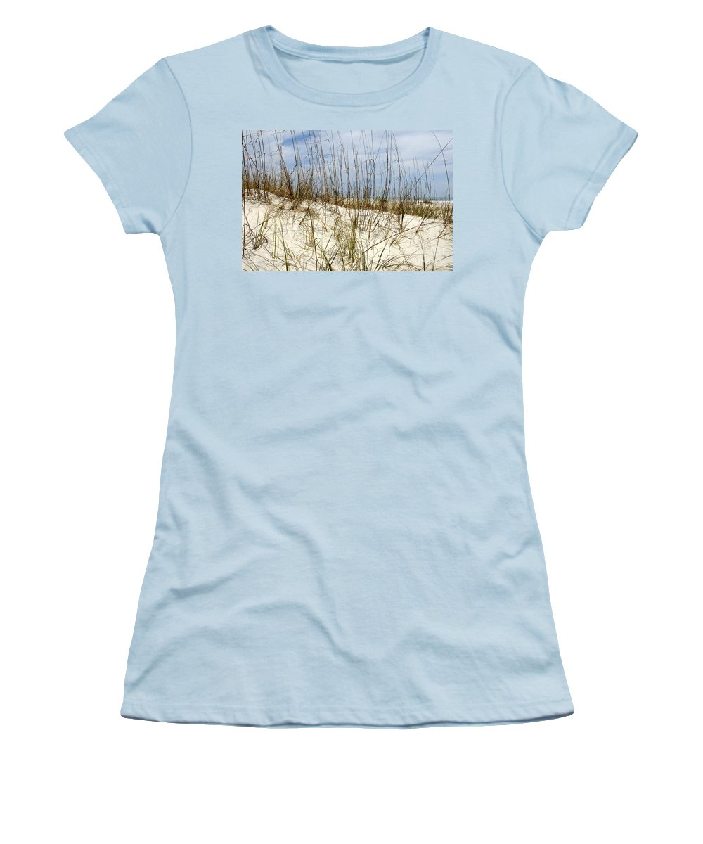Beach Women's T-Shirt (Athletic Fit) featuring the photograph Beach Dunes by David Lee Thompson