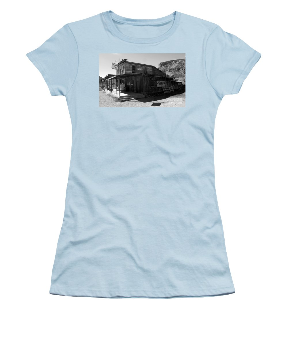 Bedrock Colorado Women's T-Shirt (Athletic Fit) featuring the photograph Bedrock Store 1881 by David Lee Thompson
