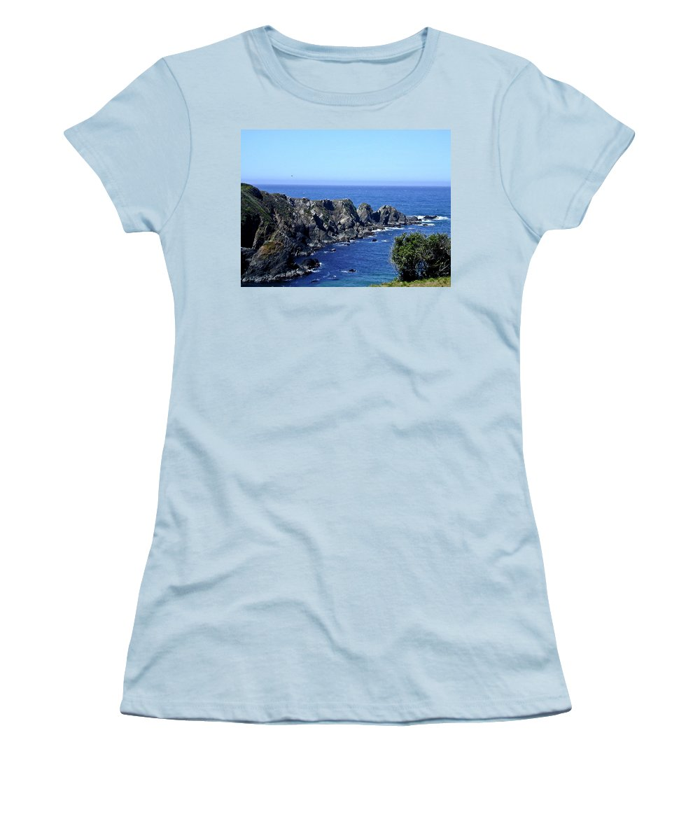Blue Women's T-Shirt (Athletic Fit) featuring the photograph Blue Pacific by Douglas Barnett