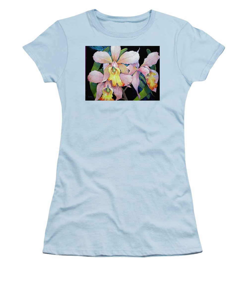 Catalya Women's T-Shirt (Athletic Fit) featuring the painting Catalya Arrangement by Jerrold Carton