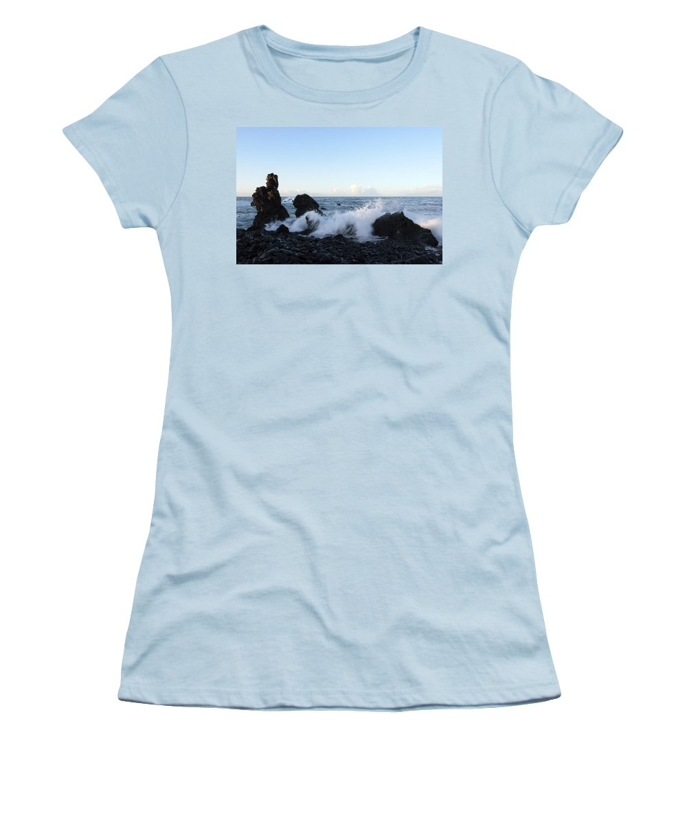 Waves Women's T-Shirt (Athletic Fit) featuring the photograph Crashing Wave by Phil Crean