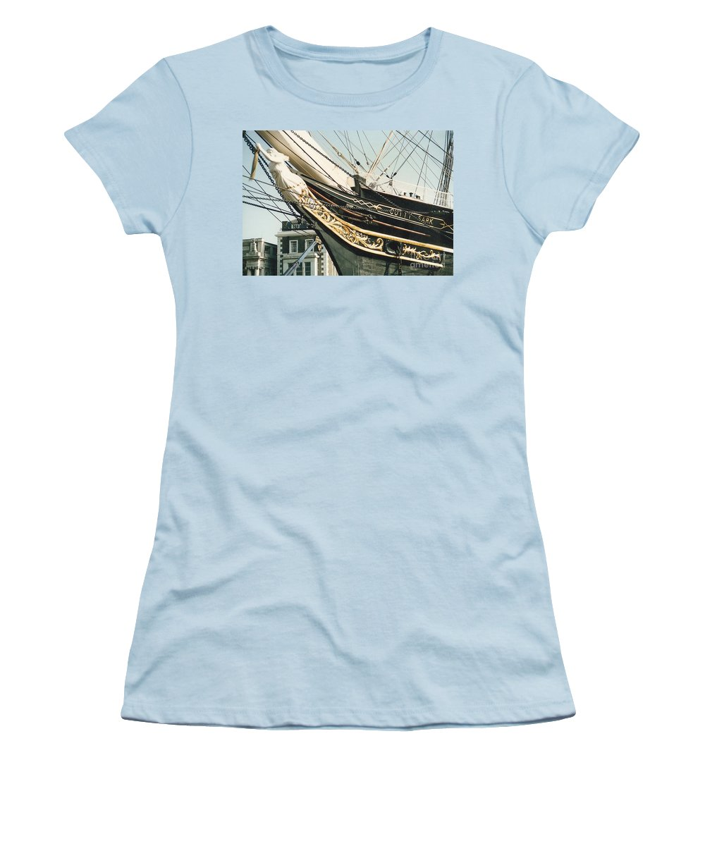 Ship Women's T-Shirt (Athletic Fit) featuring the photograph Cutty Sark by Mary Rogers