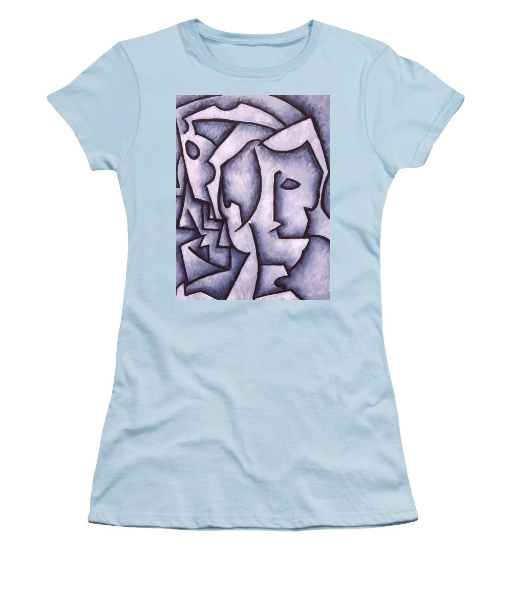 Abstract Women's T-Shirt (Athletic Fit) featuring the painting David by Thomas Valentine