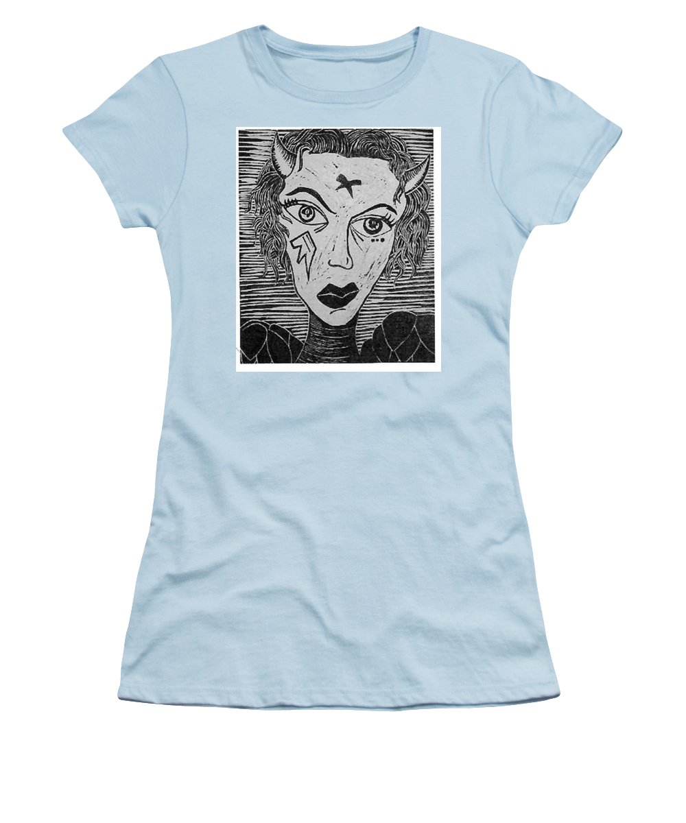 Prints Women's T-Shirt (Athletic Fit) featuring the print Devil Print Two Out Of Five by Thomas Valentine