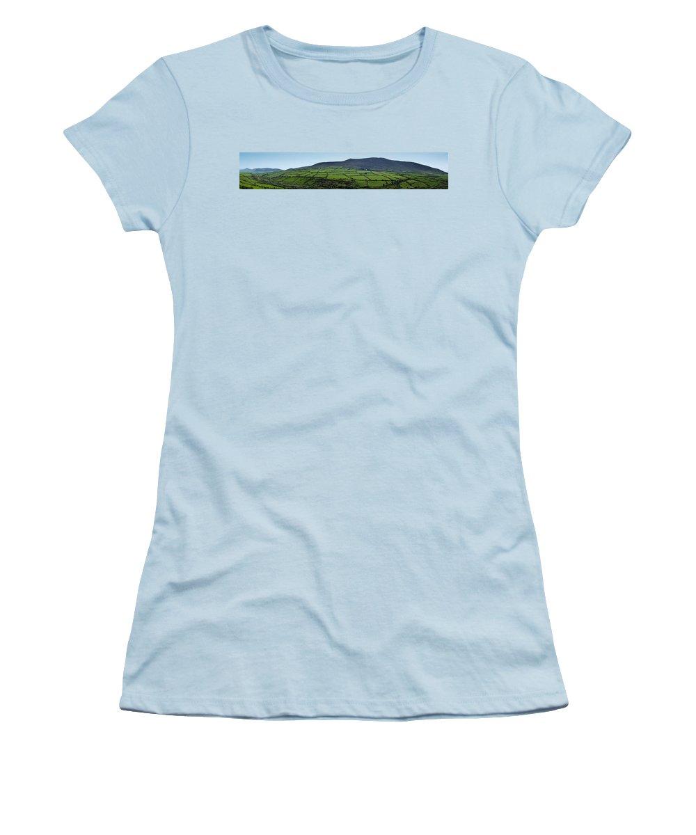 Irish Women's T-Shirt (Athletic Fit) featuring the photograph Dingle Peninsula Panorama Ireland by Teresa Mucha