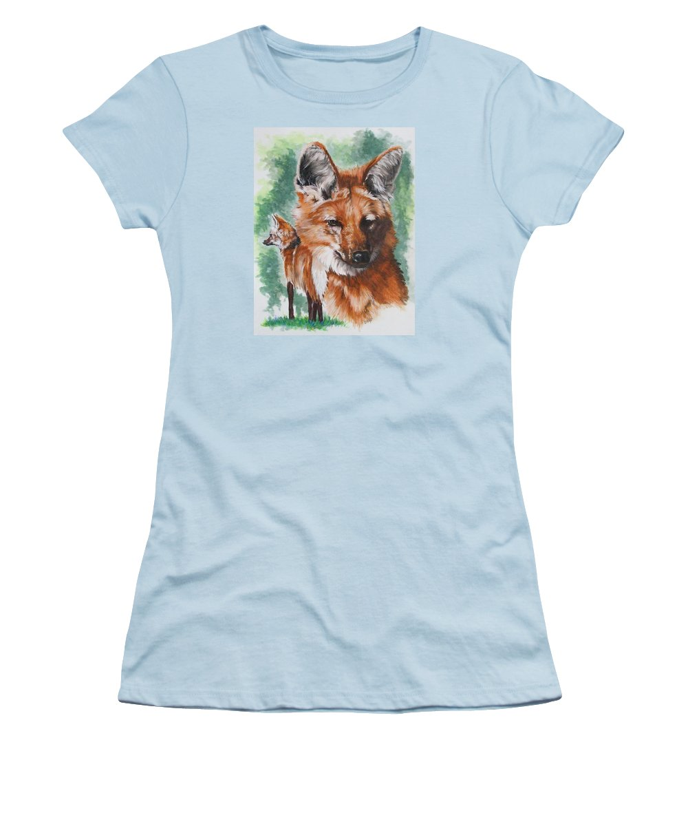 Canine Women's T-Shirt (Athletic Fit) featuring the mixed media Elegant by Barbara Keith