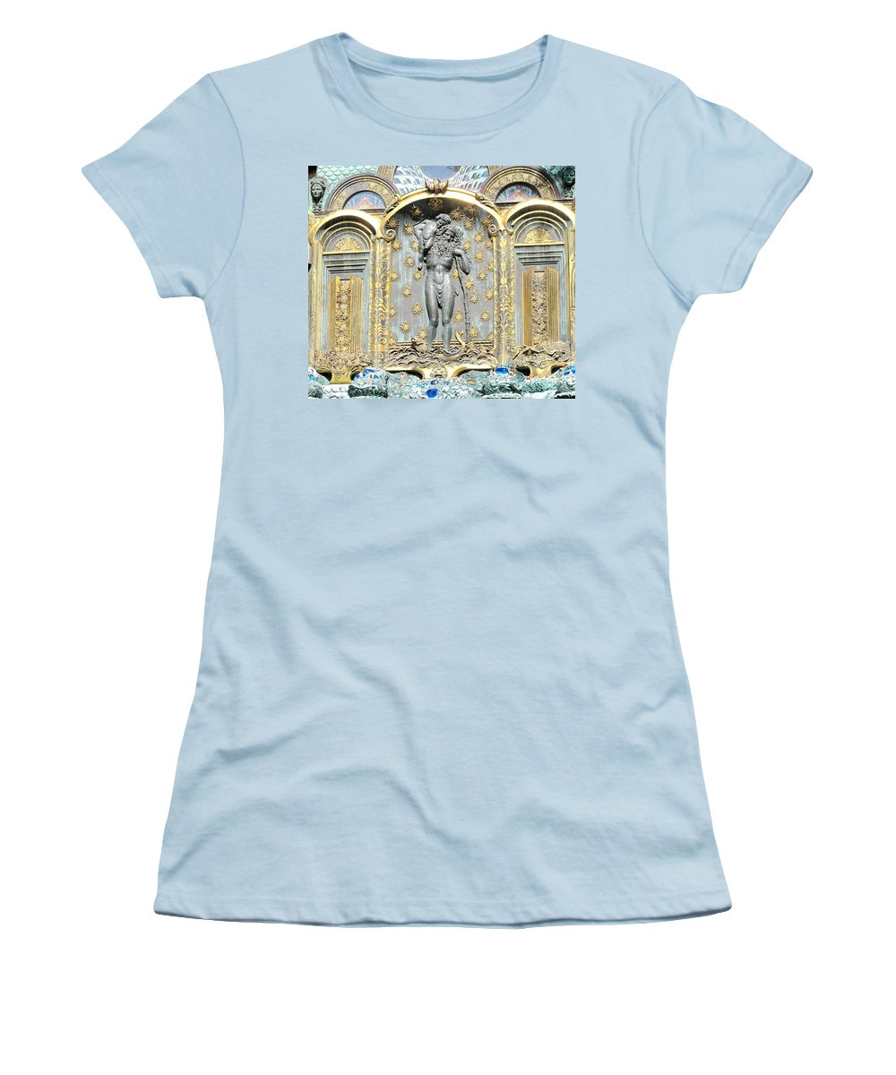 Ernst Women's T-Shirt (Athletic Fit) featuring the photograph Ernst Fuchs Mural by Ian MacDonald