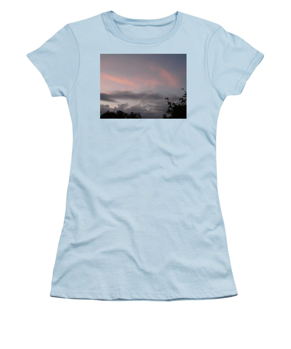Sky Women's T-Shirt (Athletic Fit) featuring the photograph Evening Sky by Valerie Ornstein