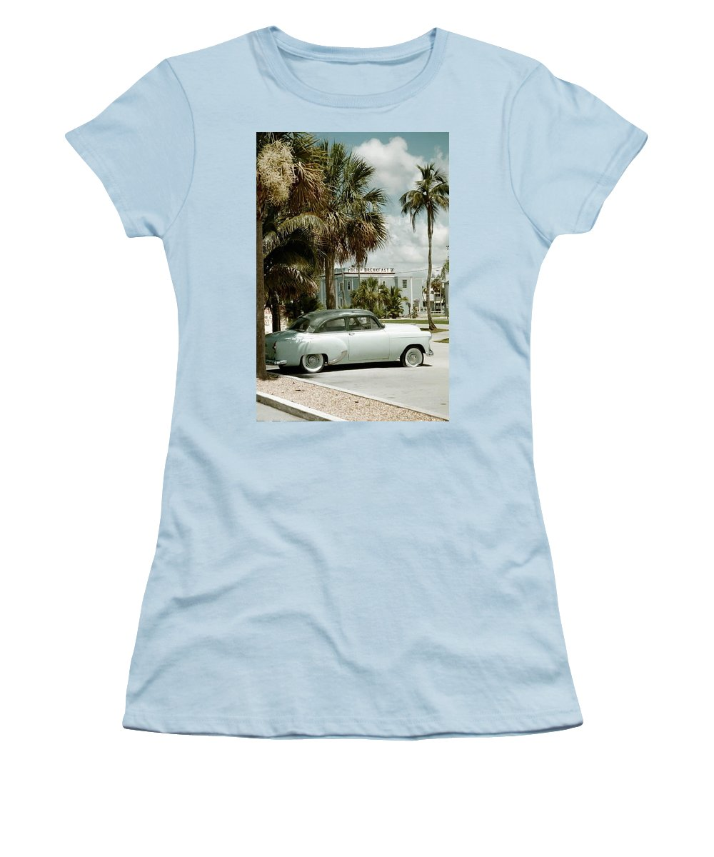 Everglade City Women's T-Shirt (Athletic Fit) featuring the photograph Everglade City I by Flavia Westerwelle