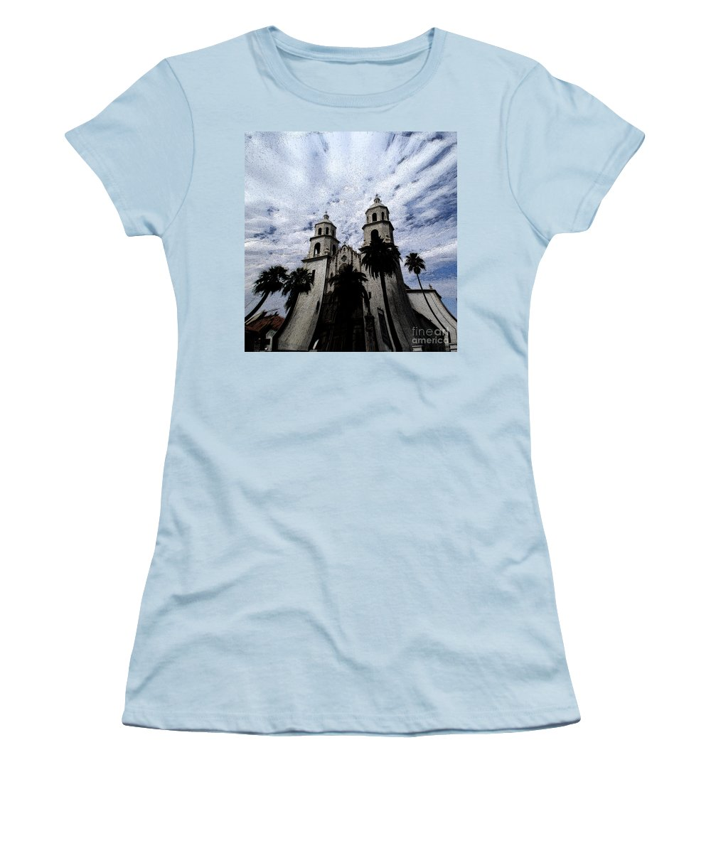 Cathedral Women's T-Shirt (Athletic Fit) featuring the photograph Faith Arizona by Linda Shafer