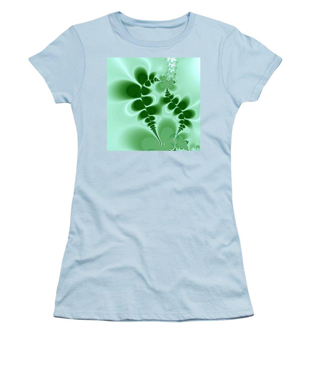 Digital Art Women's T-Shirt (Athletic Fit) featuring the digital art Ferns by Amanda Moore