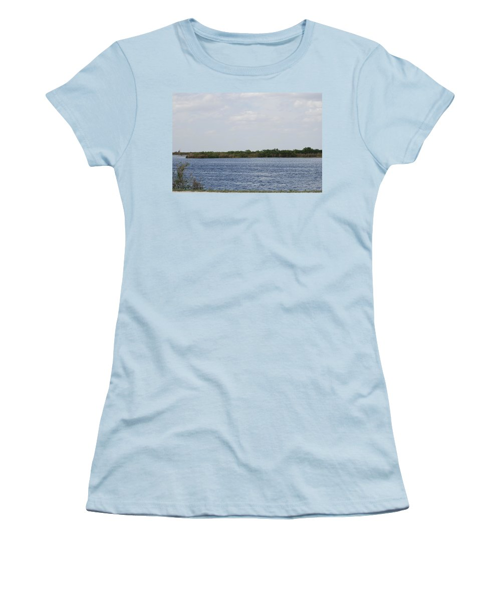 Water Women's T-Shirt (Athletic Fit) featuring the photograph Fla Everglades by Rob Hans